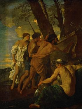 Et in Arcadia Ego, Arcadian Shepherds Try to Decipher the Inscription on an Ancient Sarcophagus by Nicolas Poussin