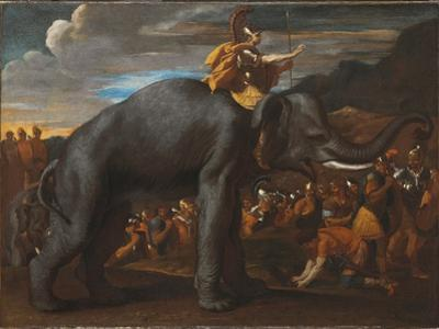 Hannibal Crossing the Alps on an Elephant by Nicolas Poussin