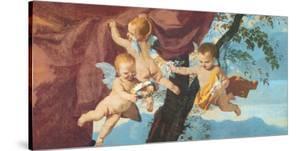 La Sainte Famille (detail) by Nicolas Poussin