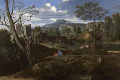 Landscape with Buildings, 1648-1650 by Nicolas Poussin