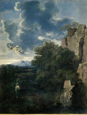 Landscape with Hagar and the Angel by Nicolas Poussin