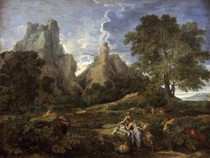Landscape with Polyphemus, 1649 by Nicolas Poussin