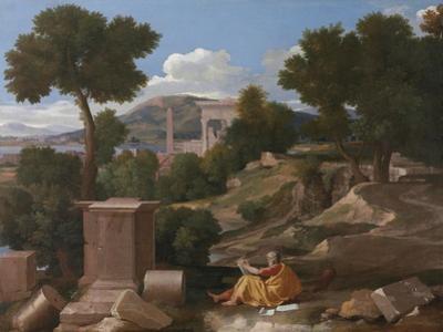 Landscape with Saint John on Patmos, 1640 by Nicolas Poussin