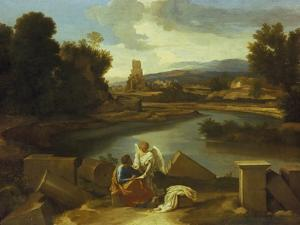 Landscape with St. Matthew, 1640 by Nicolas Poussin