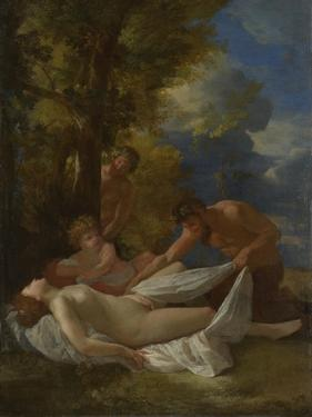 Nymph with Satyrs, Ca 1627 by Nicolas Poussin