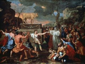 The Adoration of the Golden Calf, C1635 by Nicolas Poussin