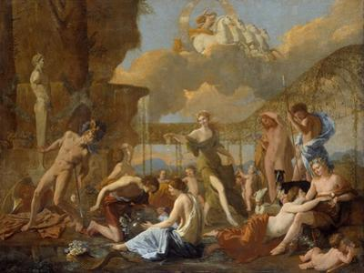 The Empire of Flora, 1631 by Nicolas Poussin