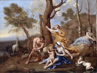 The Nurture of Jupiter, Mid-1630s by Nicolas Poussin