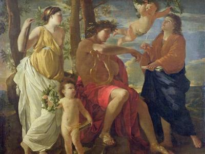The Poet's Inspiration by Nicolas Poussin