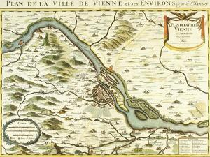 Map of the City of Vienna, 1692 by Nicolas Sanson D'abbeville
