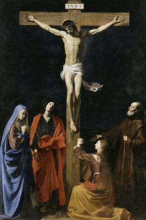 Le Christ en croix, la Vierge, la Madeleine, saint Jean et saint Vincent de Paul
