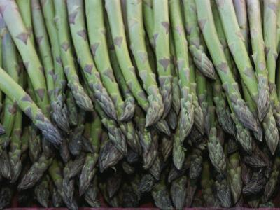 Asparagus at a Market in Provence by Nicole Duplaix