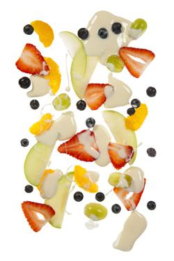 Fruit Salad on White Background by Nicole Hill Gerulat