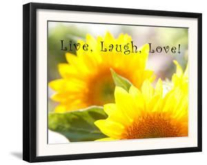 Live Laugh Love: Sunflower by Nicole Katano