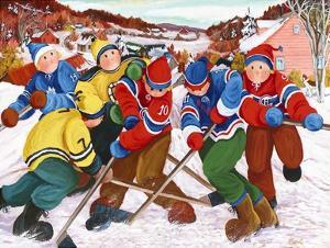 Partie de hockey by Nicole Laporte
