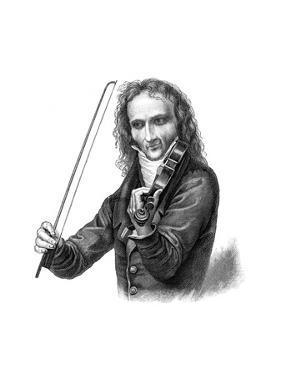Nicolo Paganini, 19th Century Italian Violinist, Violist, Guitarist and Composer