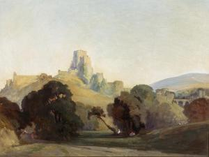 Corfe Castle, 1909 by Niels Moller Lund