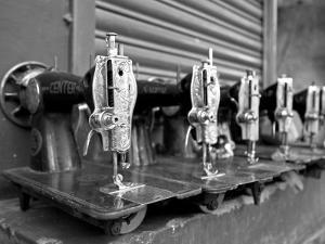 India, Mysore; Recently-Repaired Sewing Machines Outside a Sewing-Machine Repair Shop in Mysore by Niels Van Gijn