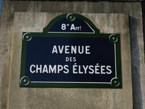 Avenue Des Champs Elysees Street Sign, Paris, France, Europe by Nigel Francis