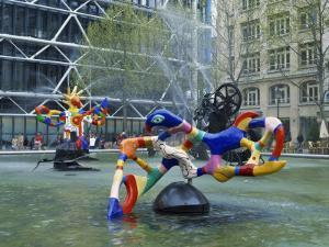 Colourful Sculptures of the Tinguely Fountain, Pompidou Centre, Beaubourg, Paris, France, Europe by Nigel Francis