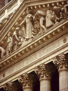 Detail of the New York Stock Exchange Facade, Manhattan, New York City, USA by Nigel Francis