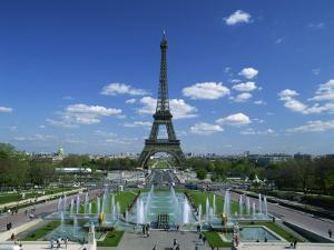 Eiffel Tower with Water Fountains, Paris, France, Europe by Nigel Francis