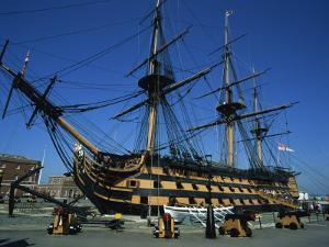 Hms Victory in Dock at Portsmouth, Hampshire, England, United Kingdom, Europe by Nigel Francis