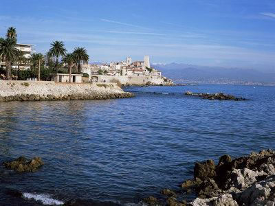 Old Walls and Castle at Antibes, Cote d'Azur, French Riviera, Provence, France
