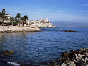 Old Walls and Castle at Antibes, Cote d'Azur, French Riviera, Provence, France by Nigel Francis