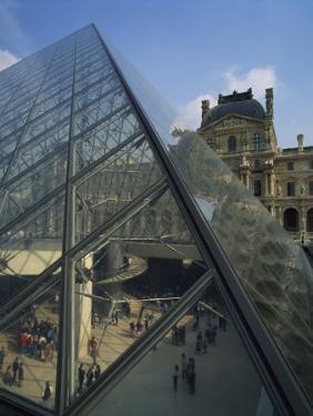 Pyramide and Palais Du Louvre, Musee Du Lourve, Paris, France, Europe by Nigel Francis