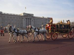 Royal Carriage Outside Buckingham Palace, London, England, United Kingdom, Europe by Nigel Francis