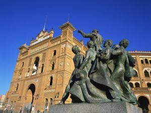 Statue in Front of the Bullring in the Plaza De Toros in Madrid, Spain, Europe by Nigel Francis