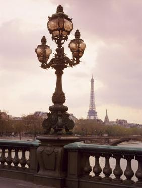 The Eiffel Tower Seen from the Pont Alexandre III at Dusk, Paris, France by Nigel Francis