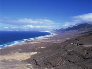 View of Playa De Cofete, Jandia Peninsula, Fuerteventura, Canary Islands, Spain, Atlantic, Europe by Nigel Francis
