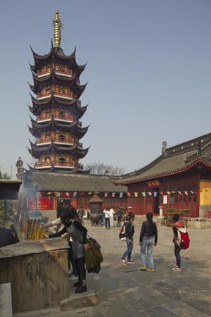 A Ming Dynasty, 15-16th Century, Pagoda at Jiming Temple, Nanjing, Jiangsu Province, China