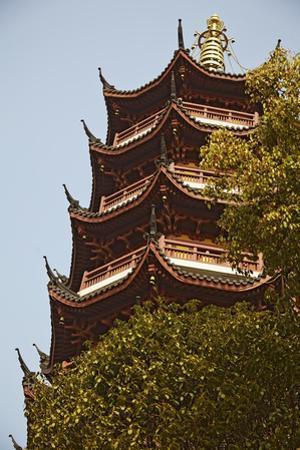 A Ming Dynasty, 15th-16th Century, Pagoda at Jiming Temple, Nanjing, Jiangsu Province, China