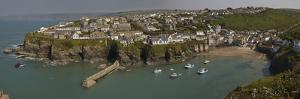 A View of the Harbor at Low Tide, Port Isaac, Near Padstow, Cornwall, Southwest England by Nigel Hicks