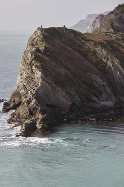 Cliffs at Lulworth Cove, in the Jurassic Coast World Heritage Site, Dorset, Great Britain by Nigel Hicks