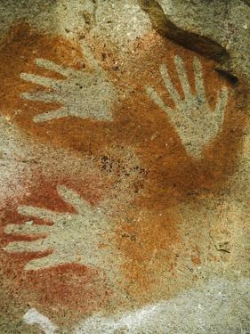Prehistoric Cliff Paintings at Cueva De Las Manos, in Patagonia by Nigel Hicks