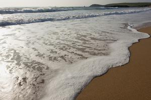 Surf at Constantine Bay, Looking Towards Trevose Head, Shortly before Sunset, Near Padstow by Nigel Hicks