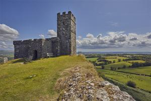 The 13th century St. Michael's Church, on the summit of Brent Tor, England by Nigel Hicks