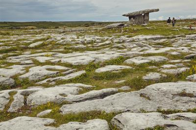 The Poulnabrone dolmen, prehistoric slab burial chamber, The Burren, County Clare, Munster, Republi by Nigel Hicks