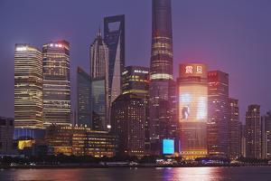 The Towers of Pudong District, with the Shanghai Tower by Nigel Hicks