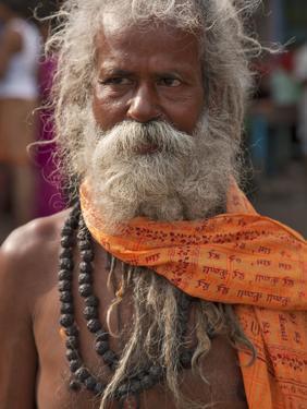 A Hindu Holy Man, or Sadhu, Near Manikula on the Outskirts of Kolkata by Nigel Pavitt