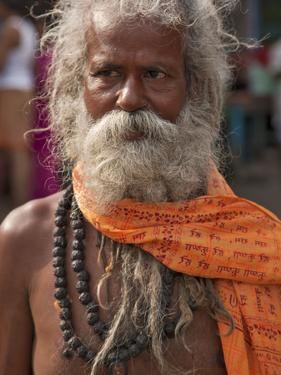 A Hindu Holy Man, or Sadhu, Near Manikula on the Outskirts of Kolkata by Nigel Pavitt