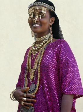 Afar Girl from Sultanate of Tadjoura Wears Exotic Gold Jewellery for Marriage by Nigel Pavitt