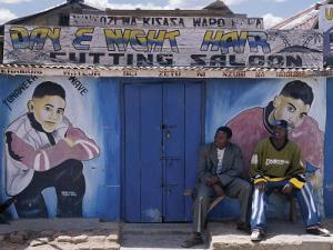 Barber's Shop in a Small Trading Centre Near Iringa in Southern Tanzania by Nigel Pavitt