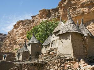 Dogon Country, Tereli, Granaries at Tereli - a Typical Dogon Village at the Base of the Bandiagara  by Nigel Pavitt