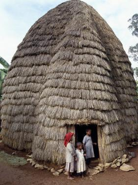 Dorze People Living in Highlands West of Abyssinian Rift Valley, Ethiopia by Nigel Pavitt