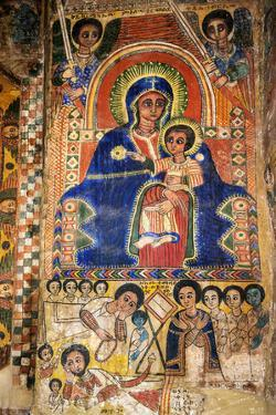 Ethiopia, Abraha Atsbeha, Tigray Region. the Interior of the 10th Century Church of Abraha Atsbeha by Nigel Pavitt